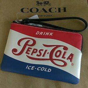 Coach Pepsi-Cola Wristlet